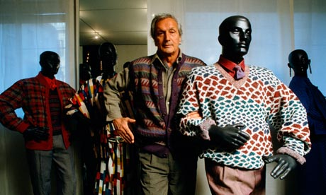 Ottavio Missoni in his boutique in 1984
